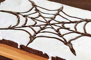 Spider Web Brownies